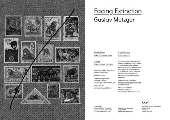 UNTIL 5 APR | FACING EXTINCTION: GUSTAV METZGER at James Hockey & Foyer Galleries UCA Farnham